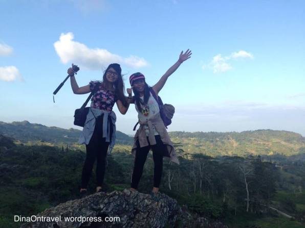 Aubrey and I as we started to hike. Picture taken by our guide