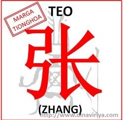 Asal Usul Marga Teo (Marga Zhang)