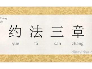 Peribahasa/Idiom Mandarin Yue Fa San Zhang