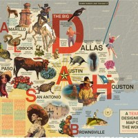 A Texas Designer's Map of the World by DJ Stout