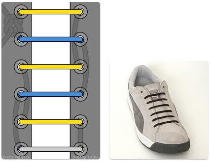 cara mengikat tali sepatu keren unik mudah dan gaul Hidden Knot Lacing