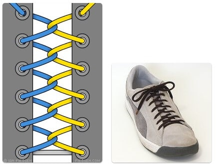cara mengikat tali sepatu keren unik mudah dan gaul Loop Back Lacing