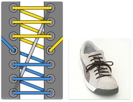 cara mengikat tali sepatu keren unik mudah dan gaul Riding Boot Lacing