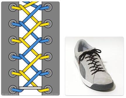 cara mengikat tali sepatu keren unik mudah dan gaul Zipper Lacing