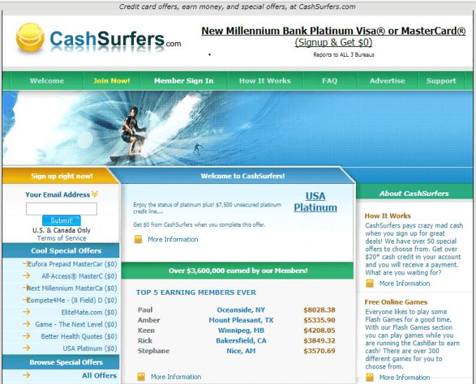 cash surfers website situs penghasil uang yang menghasilkan dolar melalui paypal