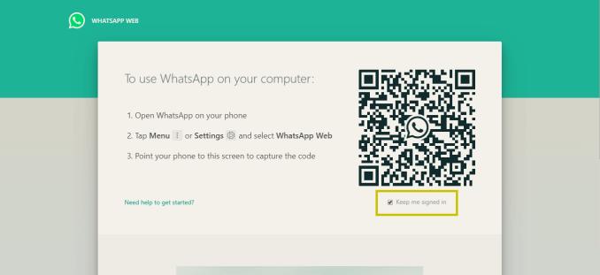 tampilan depan whatsapp web