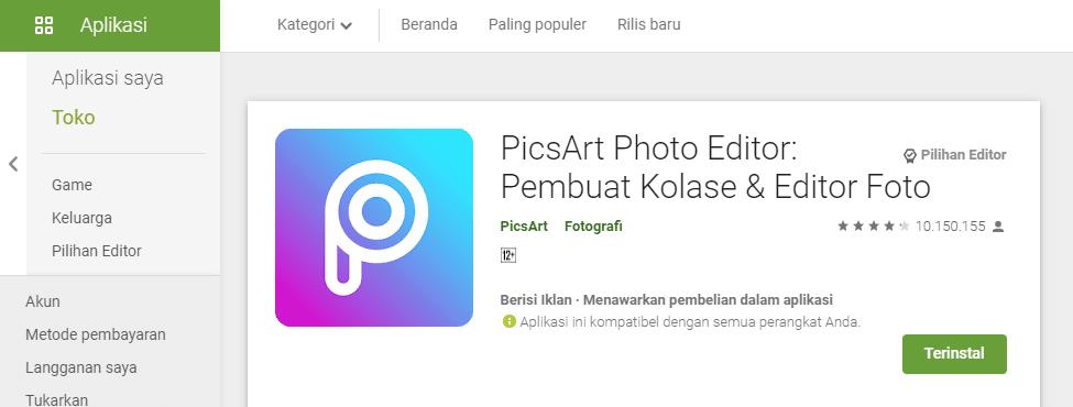 aplikasi edit foto terbaik dan gratis di android picsart