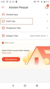 cara mengubah atau mengganti username dan nama toko lewat aplikasi shopee