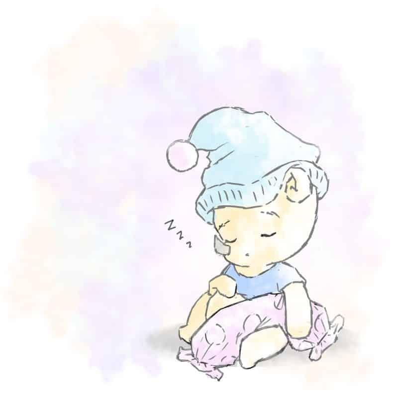 foto keren untuk profil whatsapp instagram telegram tiktok facebook line karakter kartun badak bercula satu winnie the pooh tidur duduk memegang guling memakai baju dan topi biru