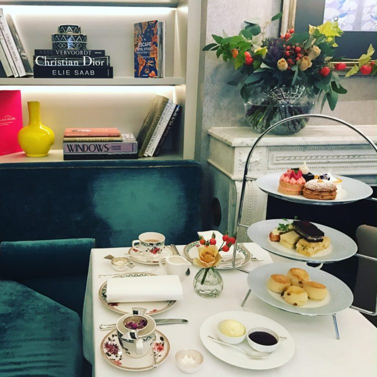 afternoon tea at luxury boutique hotel Flemings Mayfair