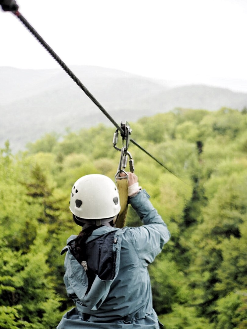 Ver about to jump on the zipline