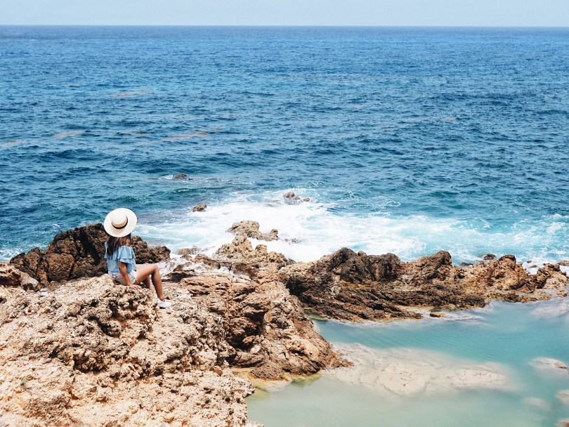 View of the natural pools in Grand Fond/Toiny St. Barth