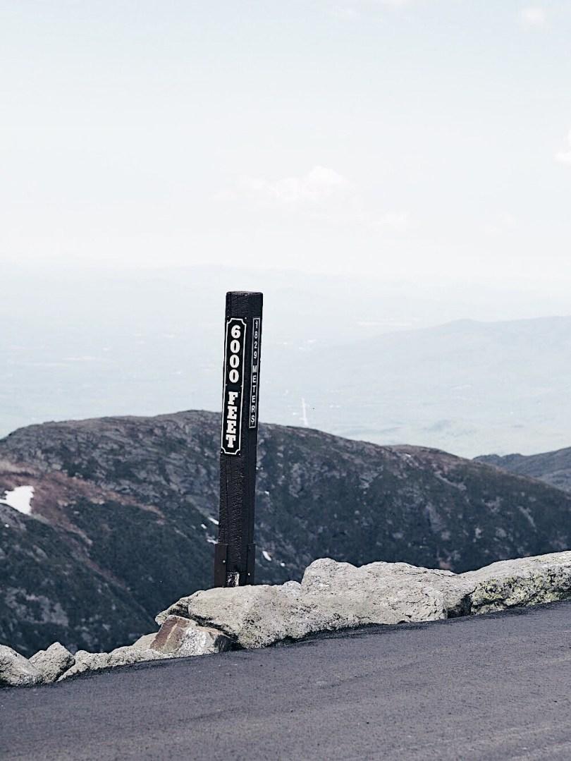 Over 6,000 ft. above sea level at Mount Washington
