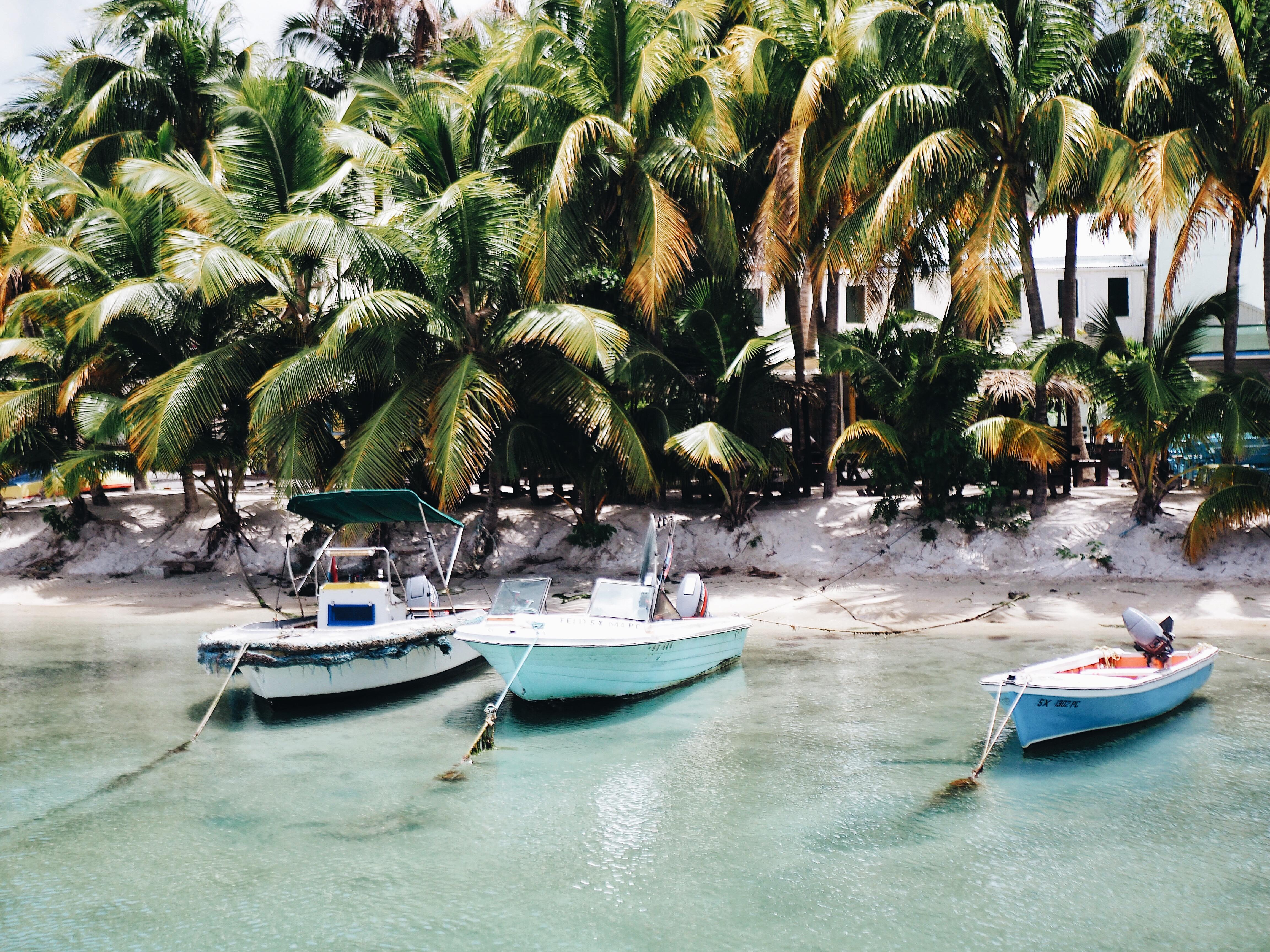 Boats in St. Maarten ferry dock