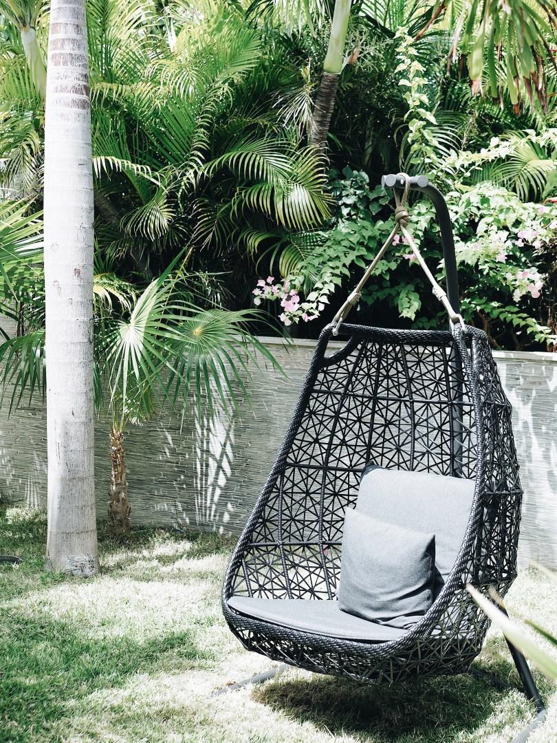 Cool chair at Villa Seven St. Barth