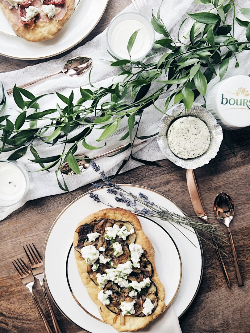 Boursin flatbreads are perfect for hosting a chic picnic