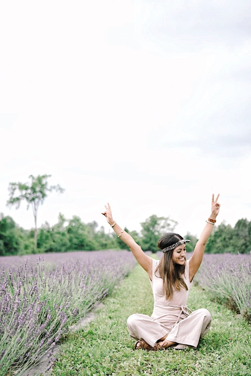 Feeling wild and free at Terre Bleu lavender field