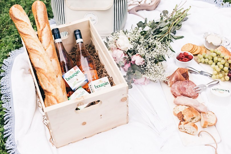Perfect chic picnic with Boursin cheese