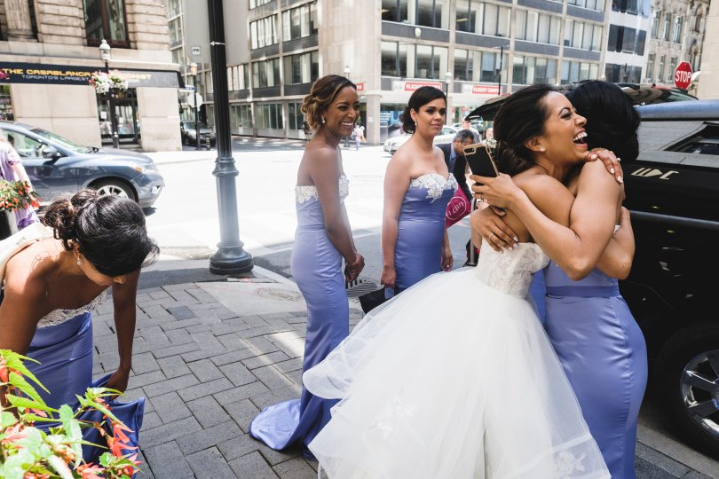 So much fun with these girls on our wedding day