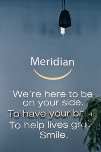 Picture of Meridian credit union with logo