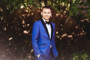 My husband in his made to measure suit