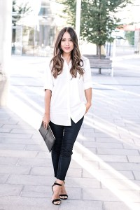One of the looks I put together with a capsule wardrobe for under $100