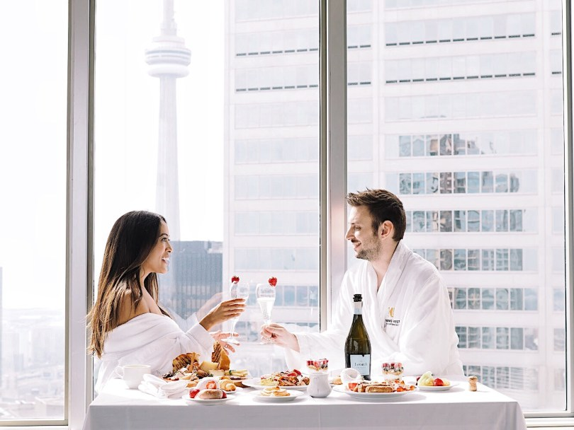 Breakfast with a view at One King West