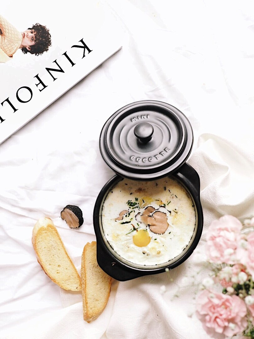Oeufs en cocotte with Kinfolk magazine