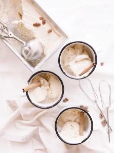 Pumpkin spice ice cream flatlay