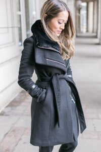 Wearing an Ever New coat