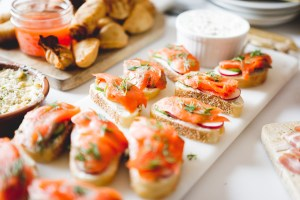 Crostini made with PC Insiders Collection smoked salmon