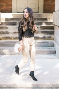 Camel and black look
