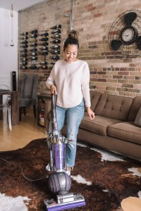 Me enjoying vacuuming with the Dyson Ball Animal 2
