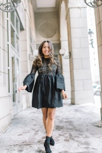 Love the bell sleeves on this dress from shopbop