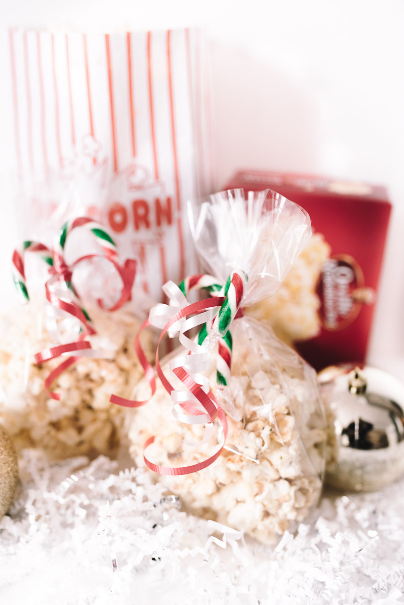 Holiday gift bags filled with Savoury Mexican popcorn