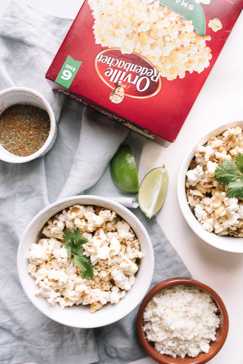 Savoury Mexican popcorn with Orville microwave popcorn