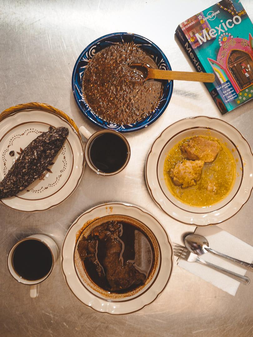 Breakfast at La Fonda Margarita in Mexico City