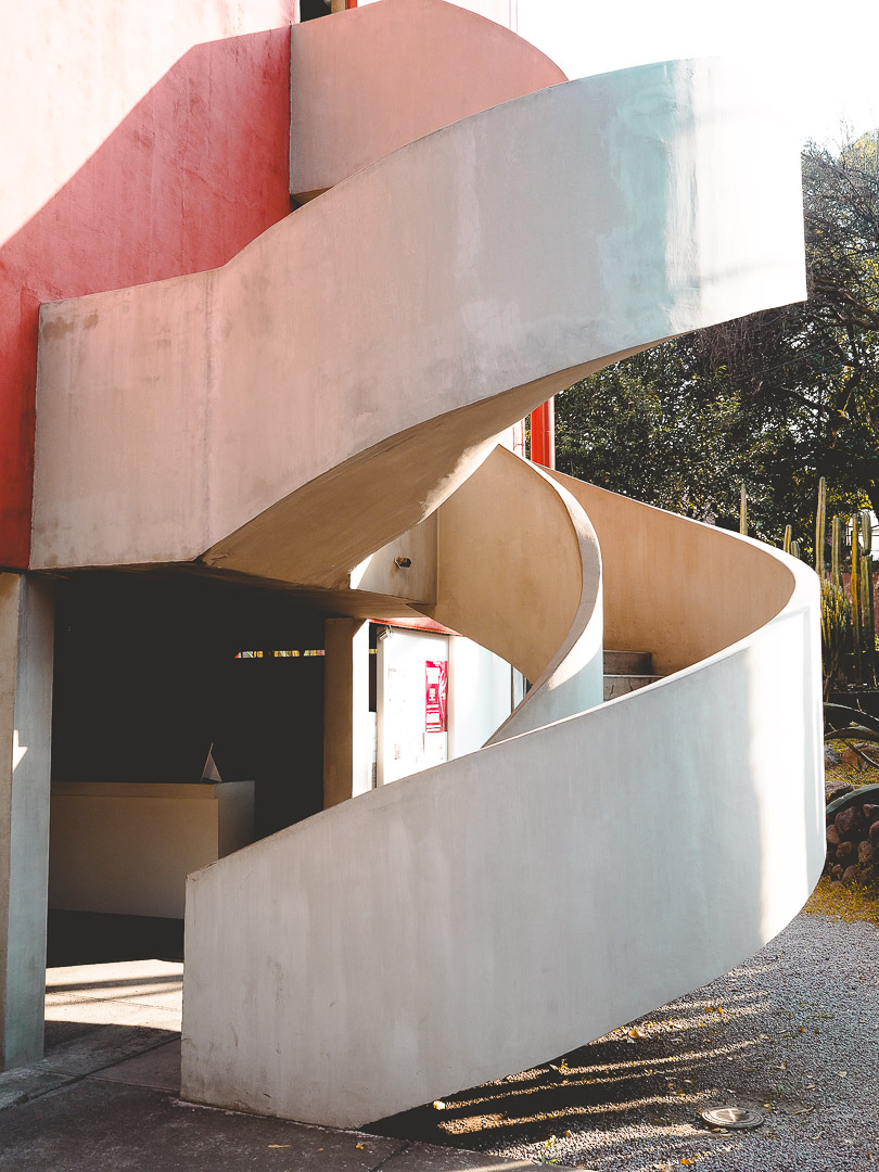 Outside Diego Rivera's Studio