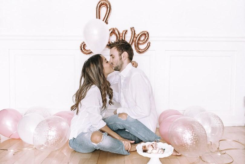 Valentine's Day kissing
