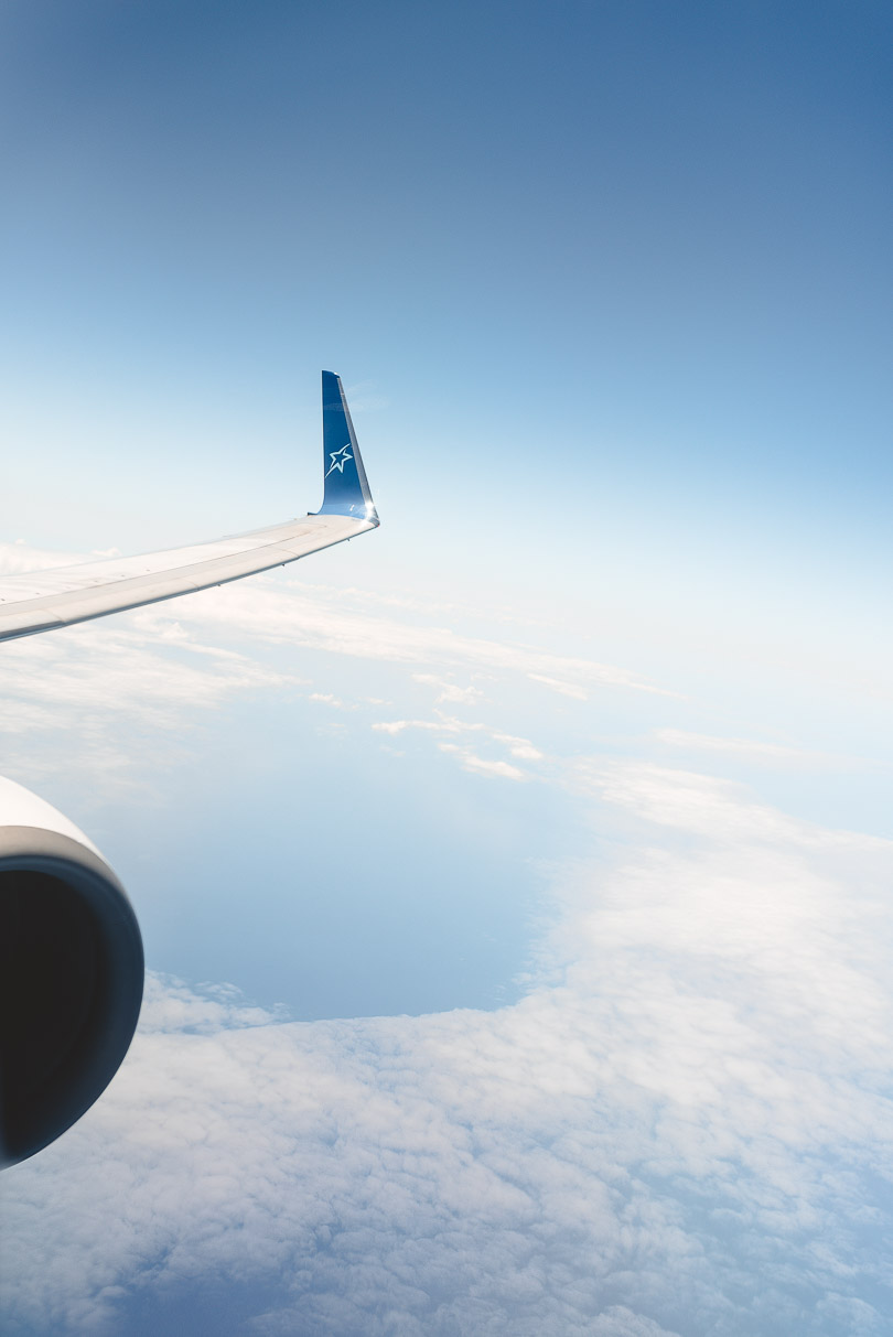 Picture of Air Transat airplane wing
