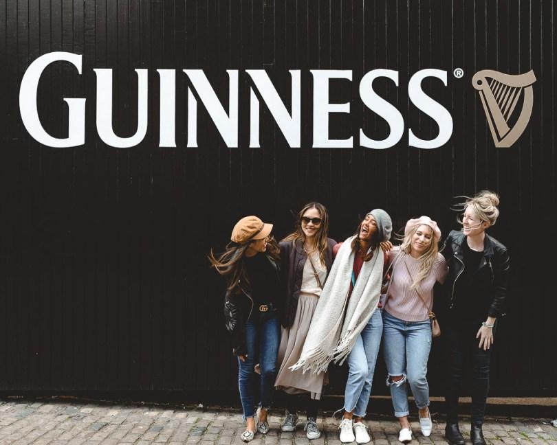 At the Guinness Storehouse in Dublin