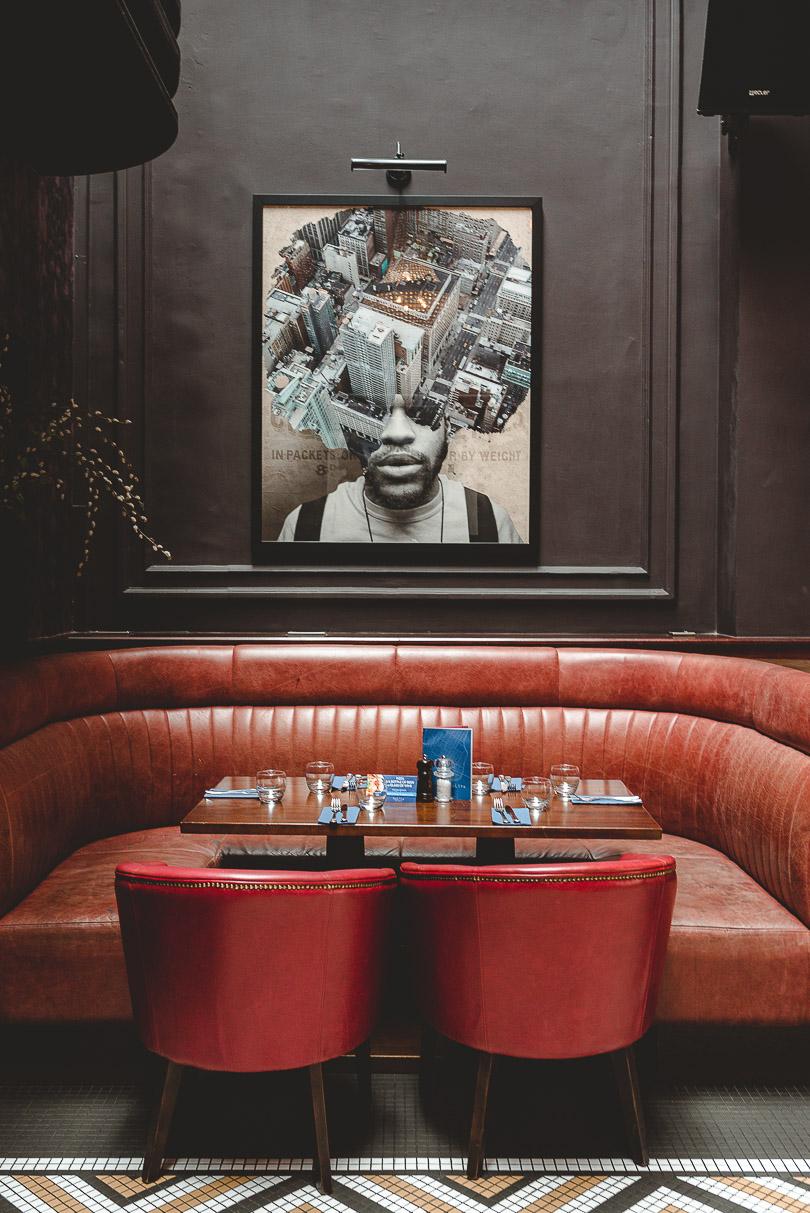 Beautiful interior design at Nolita in Dublin