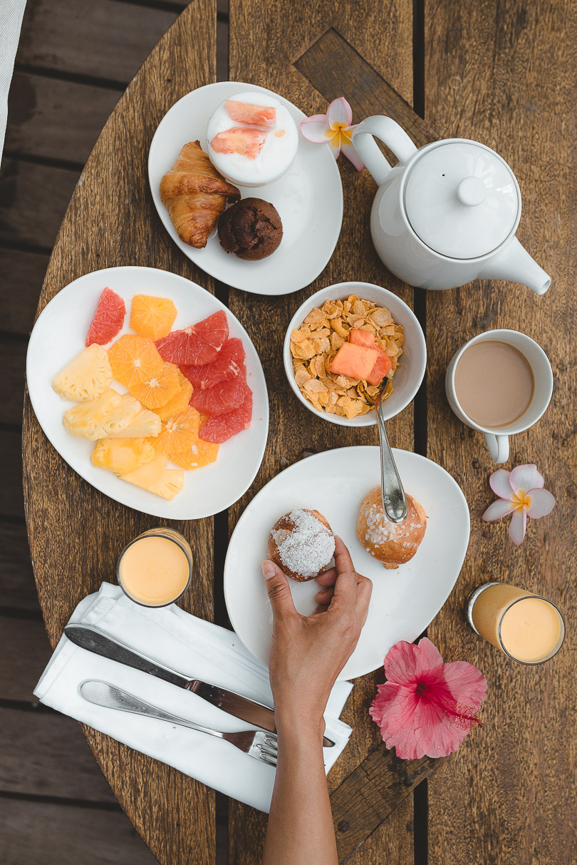 Breakfast at Paradise Cove Boutique Hotel Mauritius