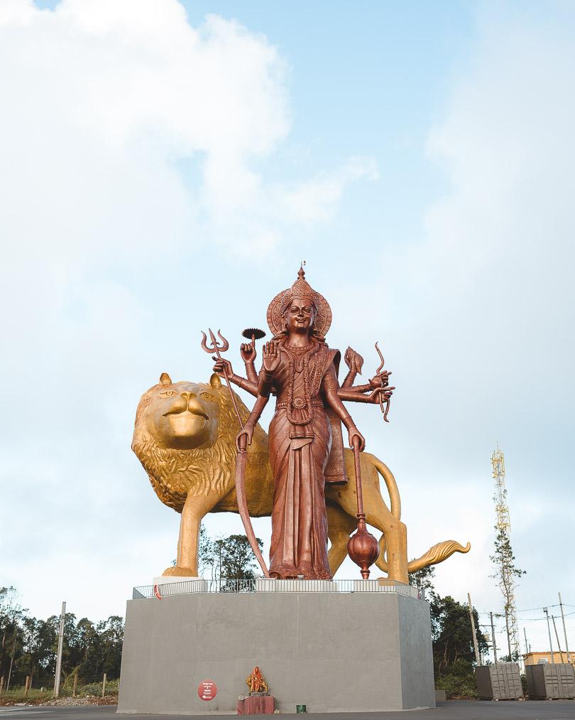 Durga Mata Monument in Grand Bassin in Mauritius