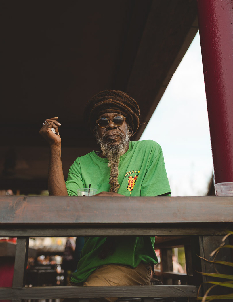 Rasta man at Rick's Cafe Jamaica
