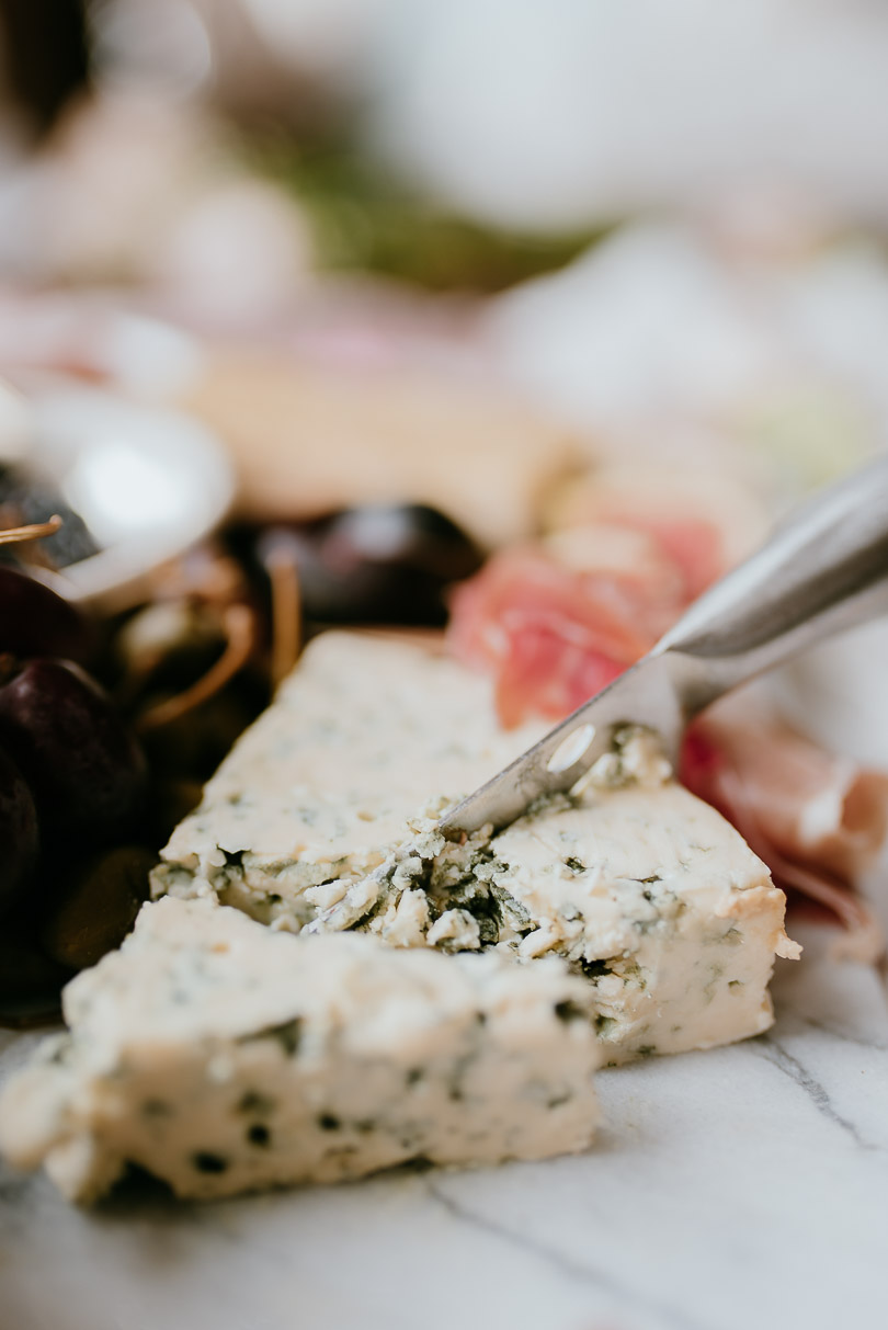 Blue Cheese on charcuterie board
