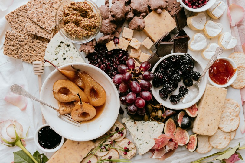 Valentine's Day Cheese & Charcuterie Board