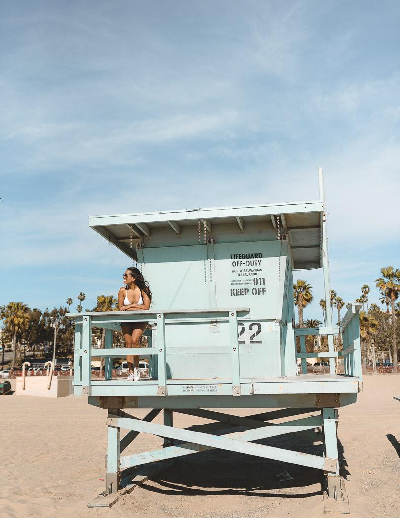 lifeguard stand santa monica