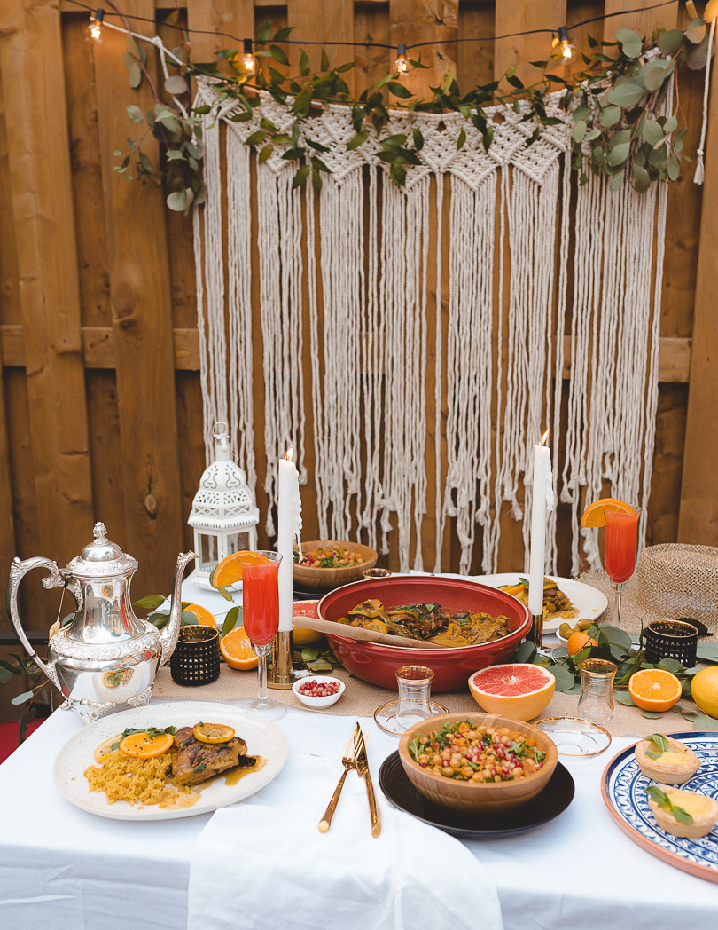 Moroccan-inspired citrus party