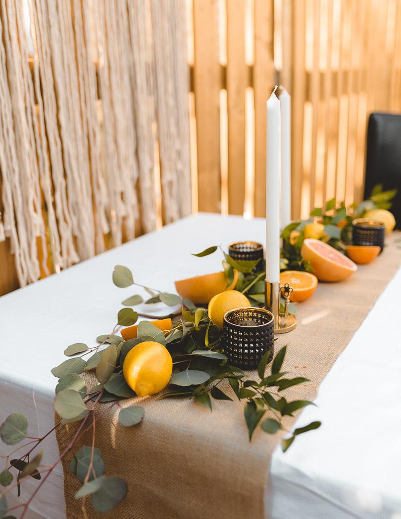 Citrus tablescape